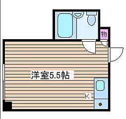 堀江グリーンハイツ[7階]の間取り