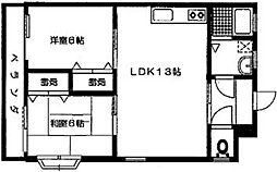 グランドールK(DW)[801号室]の間取り
