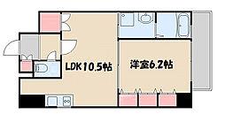 レジェンドール心斎橋東[10階]の間取り