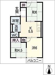 サンシャイン長谷川B棟[2階]の間取り