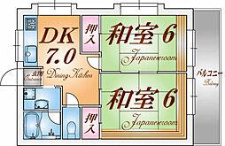 兵庫県神戸市長田区海運町7丁目の賃貸マンションの間取り