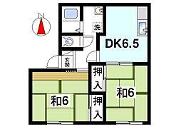 吉甚ハイツI[1階]の間取り