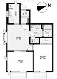 エスケーハイツ[1階]の間取り