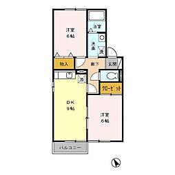 ラ・ガーディア A[2階]の間取り