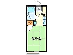 エポックエゲ3[2階]の間取り