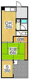 第二北豊マンション[407号室]の間取り