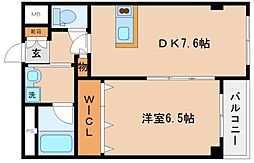 兵庫県神戸市兵庫区大開通6丁目の賃貸マンションの間取り