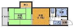 川島第14ビル[4階]の間取り
