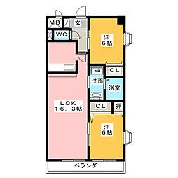 SONHO[1階]の間取り