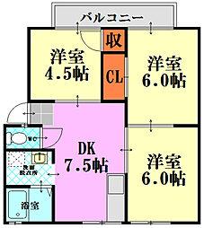 パナハイツ東雲A棟[2階]の間取り