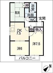 グリーンパークスMS A棟[2階]の間取り