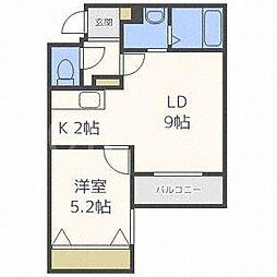 北海道札幌市豊平区美園七条4の賃貸マンションの間取り
