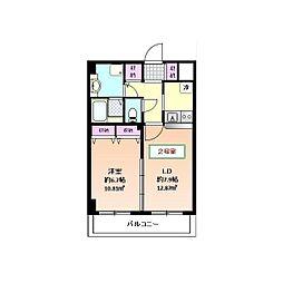 エバーブルーム[1階]の間取り