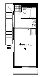 東京都目黒区三田2丁目の賃貸アパートの間取り