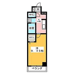 LINK KASUKABE 10階1Kの間取り