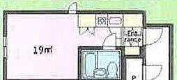 神奈川県横浜市青葉区榎が丘の賃貸マンションの間取り