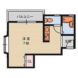 エクセレント清恒[2階]の間取り