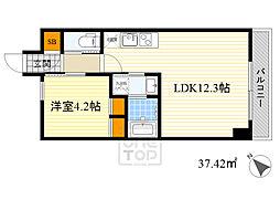 北大阪急行電鉄 千里中央駅 バス15分 北消防署前下車 徒歩6分の賃貸マンション 3階1LDKの間取り