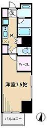 レジディア文京本駒込[7階]の間取り
