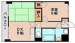 アルテハイム大野城[7階]の間取り