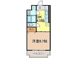 静岡県富士宮市野中の賃貸マンションの間取り