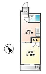 レスカール千代田[4階]の間取り