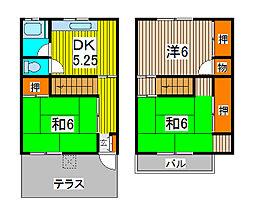 [テラスハウス] 埼玉県さいたま市浦和区駒場1丁目 の賃貸【埼玉県 / さいたま市浦和区】の間取り