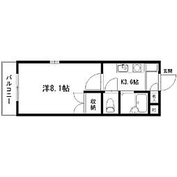 静岡県浜松市中区住吉3丁目の賃貸マンションの間取り
