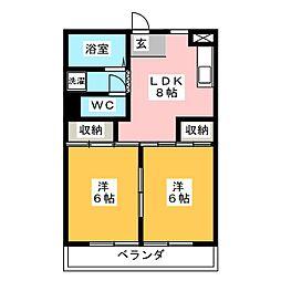 マンションオザキ[2階]の間取り