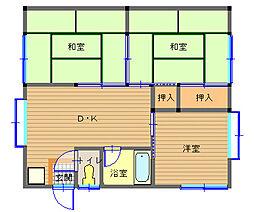 長崎県長崎市横尾2丁目の賃貸アパートの間取り
