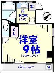 ヒルズ松本[203号室]の間取り