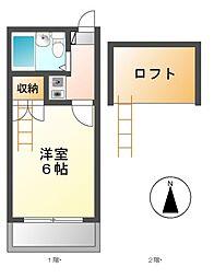セリニティ鶴舞[1階]の間取り