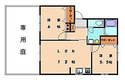 ファミーユK[1階]の間取り