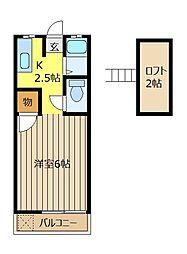 ヴェルツアシスト[1階]の間取り