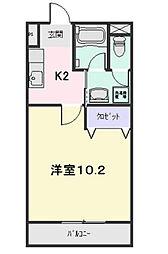 アクア松阪[A307号室]の間取り
