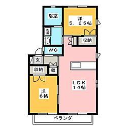 パナシア B棟[2階]の間取り