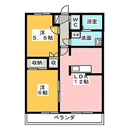 住彩苑[2階]の間取り