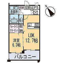 新築エトワール[103号室]の間取り