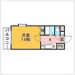 ダブルーン8桜坂[5階]の間取り