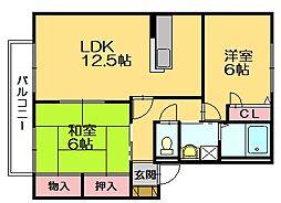 セゾン久山[2階]の間取り
