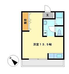 パールマンション月ヶ丘[1階]の間取り