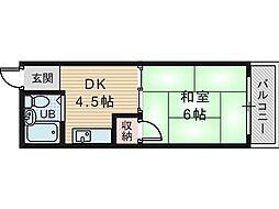 第2共和荘[6階]の間取り