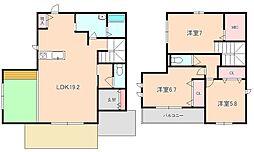 [タウンハウス] 大阪府豊中市桜の町6丁目 の賃貸【/】の間取り