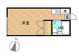 コーポ東六郷 bt[208kk号室]の間取り