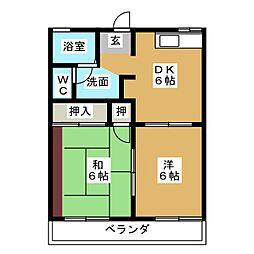 プランドールKO[2階]の間取り