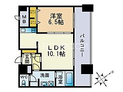 KDXレジデンス大濠ハーバービュータワー[23階]の間取り