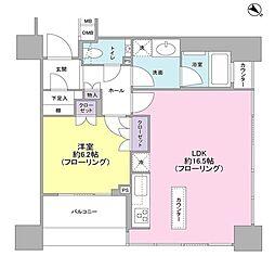ザ・ヒルトップタワー高輪台[14階]の間取り