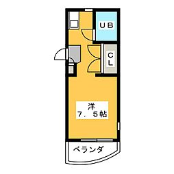 ESPACE A[5階]の間取り