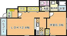 サンパティークメゾン A棟[1階]の間取り