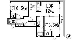 コンフォートヒルA棟[1階]の間取り
